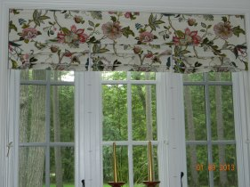Kitchen roman shades and valance 2012